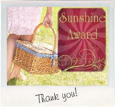 sunshine award. sidebar graphic